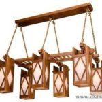 Деревянные люстры в стиле кантри – простое и элегантное украшение интерьера