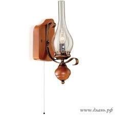 Приятное спокойствие и умиротворение создаст открытый светильник под старину, скомбинированный из разных материалов