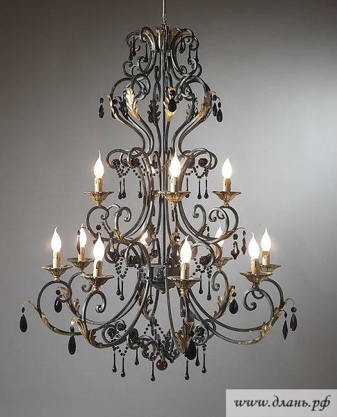 Кованые люстры для второго света – эксклюзивный источник света для уюта в вашем доме